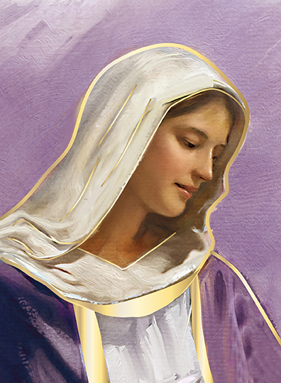 Blessed Mother Purple