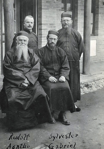 Four Capuchin missionaries sent to China in the 1920s